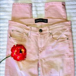 Express Women's Pink Jeans Skinny Size 4R